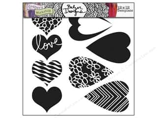 The Crafter's Workshop Template 12 x 12 in. Mix & Match Hearts
