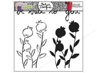 The Crafter's Workshop Template 12 x 12 in. Poppies