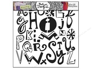 The Crafter's Workshop Template 12 x 12 in. Mixed-up Alphabet