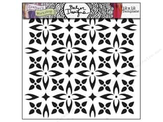 Clearance The Crafters Workshop Template: The Crafter's Workshop Template 12 x 12 in. Flower Piecing