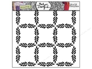 The Crafter's Workshop Template 12 x 12 in. Leaf Grid