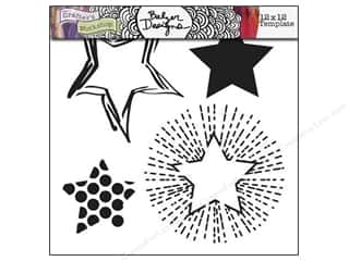 Clearance The Crafters Workshop Template: The Crafter's Workshop Template 12 x 12 in. Layered Stars