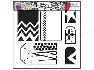 The Crafter's Workshop Template 12 x 12 in. Funky Tags