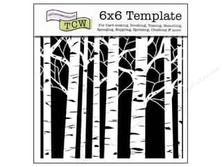 Clearance The Crafters Workshop Template: The Crafter's Workshop Template 6 x 6 in. Aspen Trees