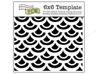 Crafter's Workshop, The Templates: The Crafter's Workshop Template 6 x 6 in. Fish Scales
