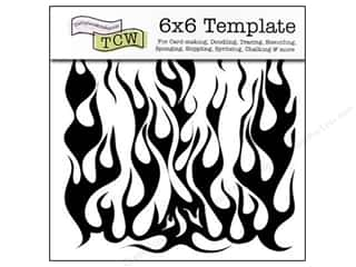 The Crafter's Template 6 x 6 in. Flames