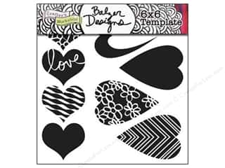 The Crafters Workshop Template 6x6 MixMatch Hearts