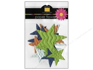 Scrapbooking &amp; Paper Crafts  Flowers / Blossoms: Bazzill Flowers Paper Dino-Mite Stars