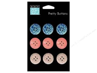 button: Bazzill Pretty Buttons 9 pc. Wayfarer