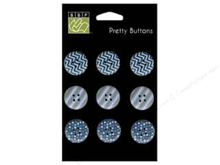 button: Bazzill Pretty Buttons 9 pc. Dino-Mite