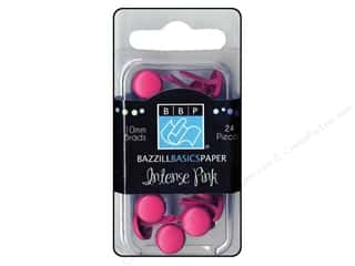 Bazzill Brads 10mm Intense Pink
