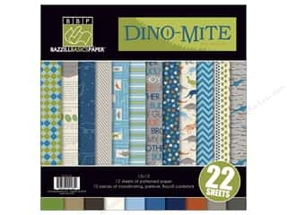 Bazzill: Bazzill Multi Pack 12x12 Dino-Mite 22pc