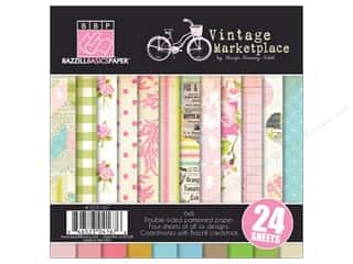 "Bazzill Multi Pack 6""x 6"" Vintage Market 24pc"