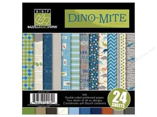 Bazzill Multi Pack 6x6 Dino-Mite 24pc