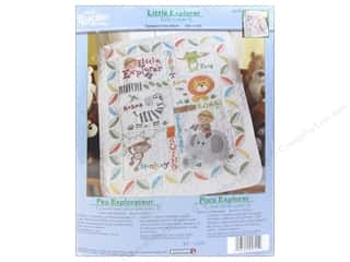 Weekly Specials Little Lizard King: Bucilla Xstitch Stamped Crib Cover Little Explorer