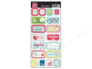 Bazzill Blue: Bazzill Cardstock Stickers 18 pc. Avalon