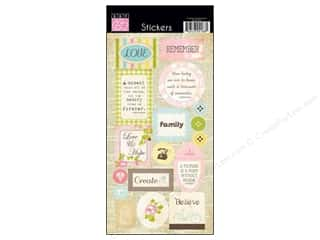 sticker: Bazzill Cardstock Stickers 17 pc. Vintage Marketplace