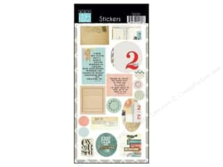 theme stickers: Bazzill Cardstock Stickers 17 pc. Wayfarer
