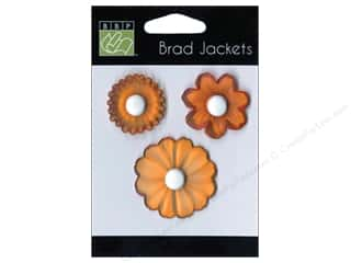 shape brads: Bazzill Brad Jackets 3 pc. Intense Orange