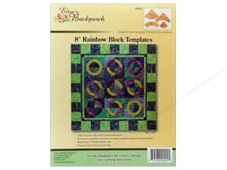 "Elisa's Backporch Templates 8"" Rainbow Block"