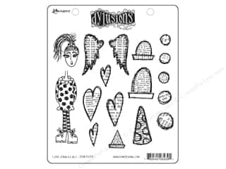 Ranger Dylusions Stamp Rubber Love Struck Lucy