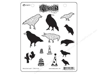 bird stamp: Ranger Dylusions Stamp Rubber Birds On A Wire