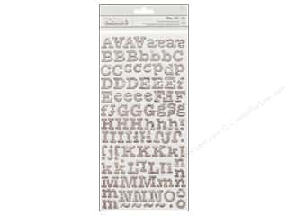 alphabet stickers: Thickers Alphabet Stickers Memo Newsprint