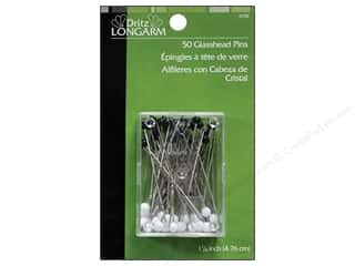 Dritz Notions Dritz Pins: Glasshead Pins by Dritz Longarm 50pc.