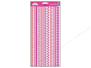 Doodlebug Sticker Cardstock Fancy Frills Bubblegum