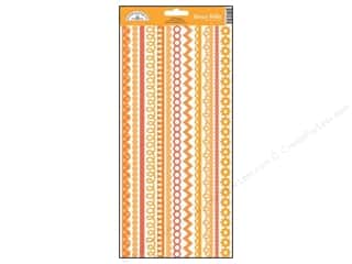 Zig Stickers: Doodlebug Stickers Cardstock Fancy Frills Tangerine