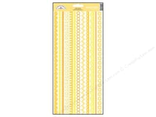 Borders Stickers: Doodlebug Stickers Cardstock Fancy Frills Bumblebee