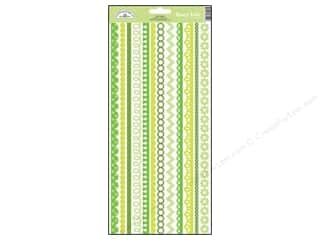 Borders Stickers: Doodlebug Stickers Cardstock Fancy Frills Limeade