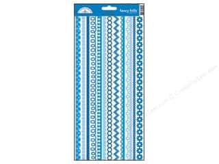 Doodlebug Sticker Cardstock Fancy Frills Blue Jean