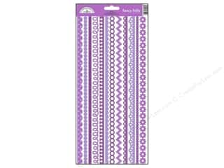 Borders Stickers: Doodlebug Stickers Cardstock Fancy Frills Lilac