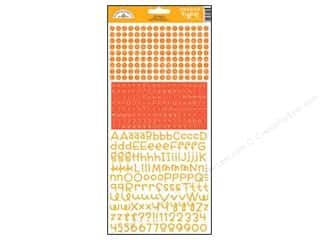 Note Cards ABC & 123: Doodlebug Stickers Cardstock Teensy Type Tangerine