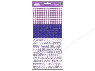 Scrapbooking & Paper Crafts ABC & 123: Doodlebug Stickers Cardstock Teensy Type Lilac