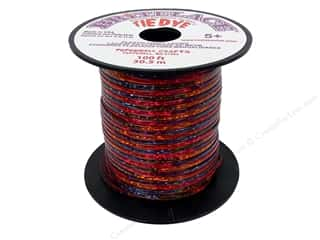 Cording Clear: Pepperell Rexlace Craft Lace 100 ft. Tye-Dye Clear Red