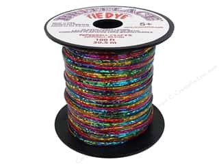 Cording Clear: Pepperell Rexlace Craft Lace 100 ft. Tye-Dye Clear