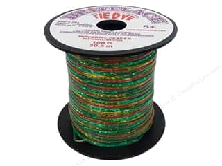 Cording Clear: Pepperell Rexlace Craft Lace 100 ft. Tye-Dye Clear Green
