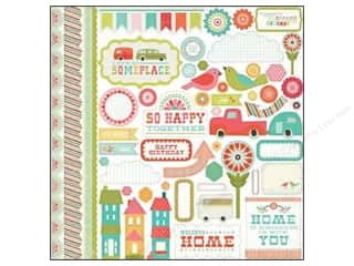 Echo Park Sticker 12x12 So Happy Together Element (15 piece)
