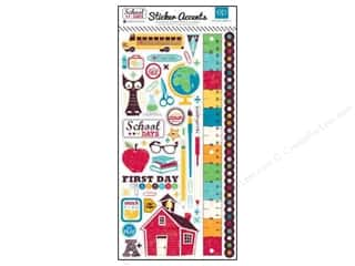 "Back To School Clearance Crafts: Echo Park Sticker 6""x 12"" School Days (15 pieces)"