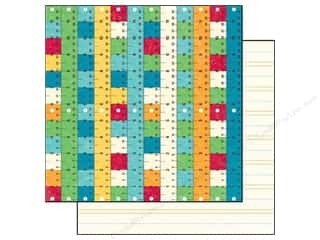 Back To School Papers: Echo Park 12 x 12 in. Paper School Days Collection Rulers (15 pieces)