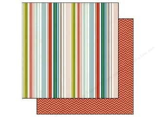 Clearance Blumenthal Favorite Findings: Echo Park 12 x 12 in. Paper Homemade Stripe (15 piece)