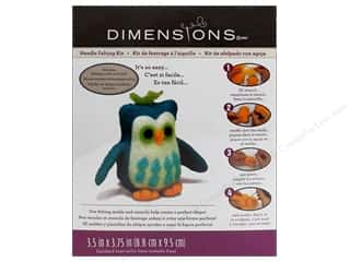 Stencils Projects & Kits: Dimensions Needle Felting Kits Owl