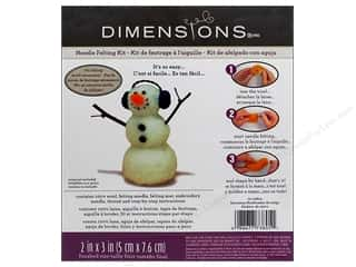 Crafting Kits Winter: Dimensions Needle Felting Kits Snowman