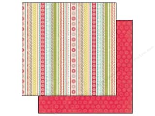 Echo Park Paper Company: Echo Park 12 x 12 in. Paper So Happy Together Collection Happy Stripes (25 sheets)