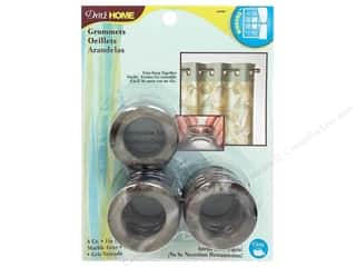 Dritz Home Curtain Grommets Medium 1 in. Round Marble Grey 8pc