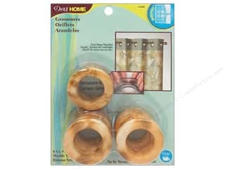 Dritz Home Curtain Grommets 1 in. Round Marble Tan 8pc