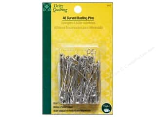 curved safety pin: Curved Basting Pins by Dritz Quilting 2 in. Nickle 40pc