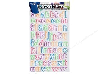 Appliques ABC & 123: Soft Flex Iron-on Letters Multicolor Doodle by Dritz